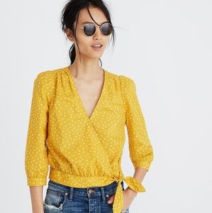 Madewell Yellow Star Scatter Wrap Top